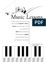 Music Lessons Flier