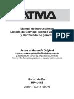 Manual Atma Hp4041