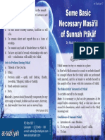 Some Basic Necessary Masā'il of Sunnah I'tikāf - Muftī Sulayman Lasania