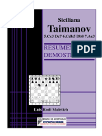 Defensa Siciliana Variante Taimanov Luis Rodi Maletich