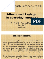 Idioms and  sayings in  everyday language_Prof SADIE MORHY.pptx