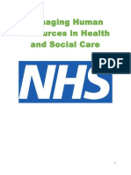 Managing Human Resources in Health and Social Care