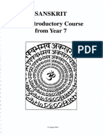Introduction to Sanskrit Language
