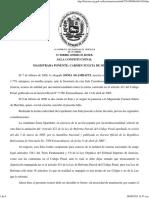 TSJ, NULIDAD Del Artículo 421 Del Código Penal de 2005