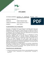 SYLLABUS ELECTIVA DE FORMACIÓN INTEGRAL