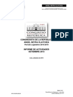 Informe de gestión Setiembre 2015