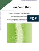 chimie verde