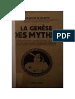 Alexandre H. Krappe. La Genese Des Mythes