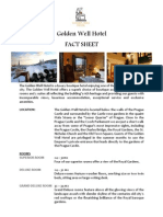 Fact Sheet - Golden Well Hotel Prague, Prague, Czech Republic