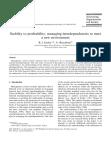 Stability to profittability