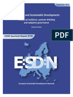 2012 Resilience and Sustainable Development