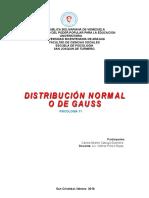 TRABAJO DE ESTADISTICA II  DISTRIBUCIÓN NORMAL O DE GAUSS.doc