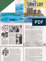 Navy Lark Series 3 Booklet