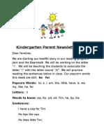 parent newsletter 12