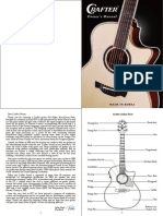 Crafter Guitar  Manual