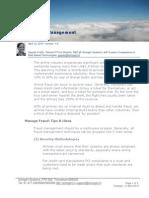 Airline Fraud Management V10