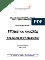 GADE. Relación de Problemas. 2015-16