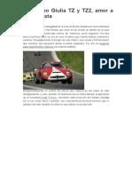 Alfa Romeo Giulia TZ y TZ2