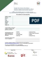 Formulario de Inscripción - Simposio - Energía Solar Térmica y Fotovoltaica