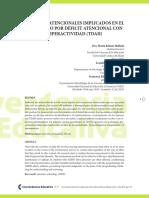 Procesos atencionales implicados en el trastorno por déficit atencional con hiperactividad (tdah)