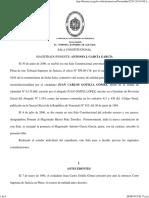 2001, TSJ - Constitucionalidad Del ABORTO Honoris Causa