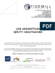 Deputy Headteacher Job Description and Person Specification