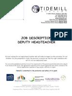 Deputy Headteacher Job Description and Person Specification