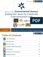 LEAPS Safer Spaces Cluster Study
