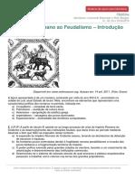 Monitoria Historia Imperio Romano Feudalismo Introducao 01-02-04!05!02 2016