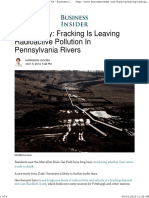 Fracking leaves radioactive materials in PA rivers.