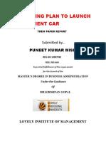 MARKETING PLAN TO LAUNCH A C-SEGMENT CAR
