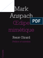 OEdipe mimétique, de Mark Anspach
