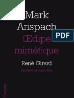 OEdipe mimétique, de Mark Anspach