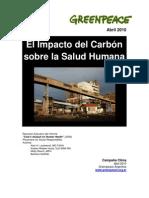 """Presentación del informe """"Impacto del carbón sobre la salud humana"""" En Argentina"""