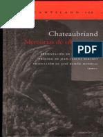 Chateaubriand - Memorias de Ultratumba - Libro 01 [Ed. El Acantilado]