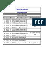 Calendário Curso Produção Textual Ingles Unicid