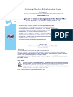 management of medical emergencies in the dental office  1