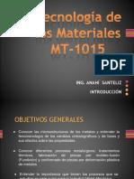 Introduccion Tecnologia de Los Materiales