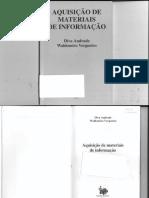 LIVRO - Aquisição de Materiais de Informação - Diva Andrade, Waldomiro Vergueiro.