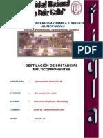Destilación de Sustancias Multicomponentes