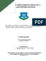 Design & Implementation of Solar Power System