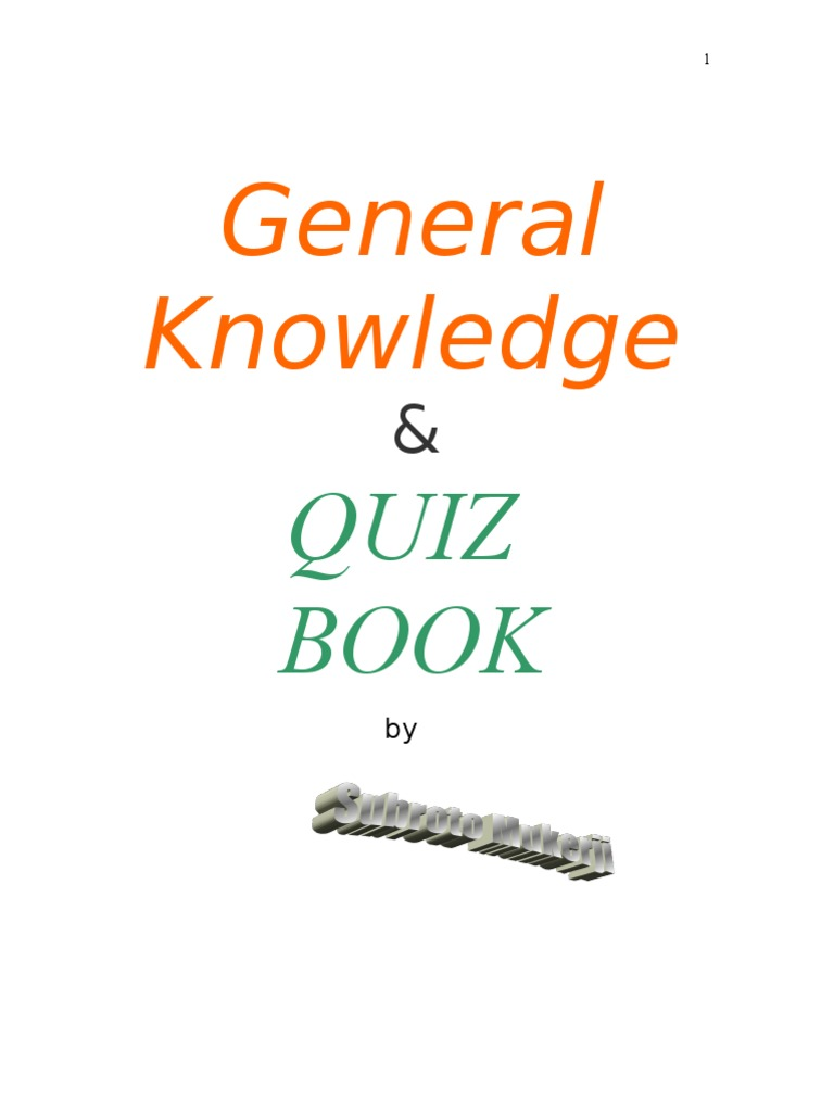 General knowledge quiz book by subroto mukerji exploration general knowledge quiz book by subroto mukerji exploration nature fandeluxe Gallery