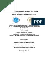 Proyecto Pulpa de Nispero