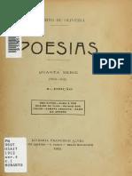 Alberto de Oliveira Poesias Quarta Serie