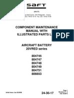 SAFT Battery Maintenance Manual