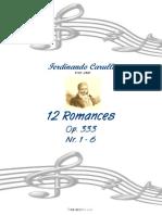 carulli Ferdinandoo 12 Romances (Guitar Duet)