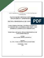 CARACTERIZACION DEL CONTROL INTERNO EN LA GESTION DE LAS EMPRESAS DEL PERÚ. CASO EMPRESAS COMERCIALES. PERIODO 2013.