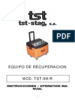 Manual de Intrucciones. Equipos de RecuperaciónTST-99-R