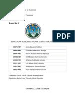 Estructura Técnica Del Informe