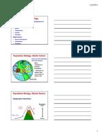 Lecture 3 4_Population Biology Outline